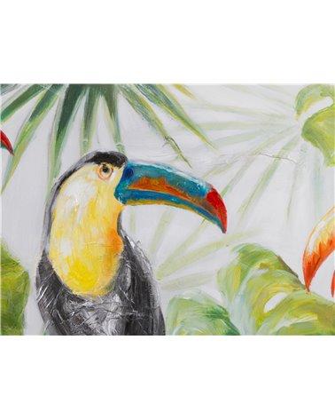 Peinture panoramique de perroquets