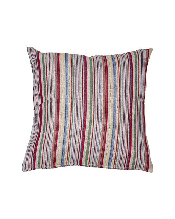 Swiss cushion red stripe 45x45 cm