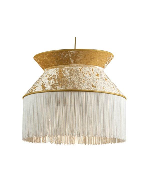 Lámpada de teito Cancán branca 45x45 cm