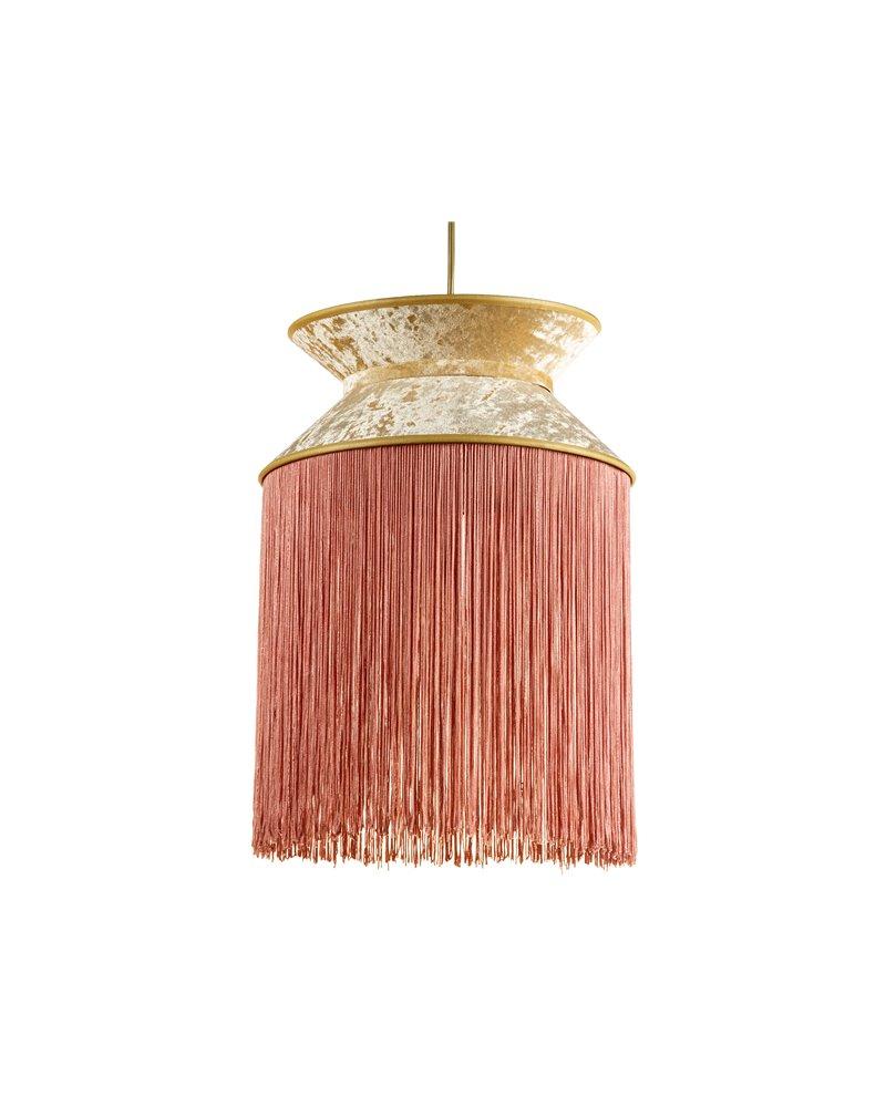 Lámpara de techo Cancán rosa 30x30 cm