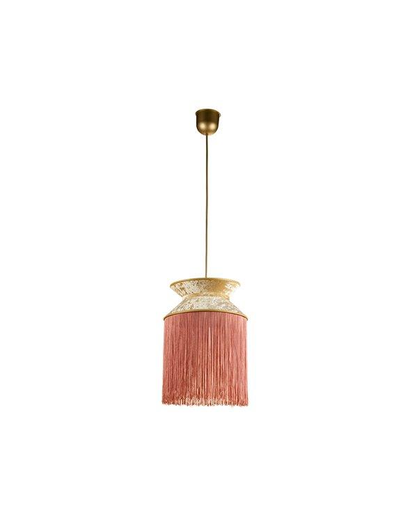 Llum de sostre Cancan rosa 30x30 cm