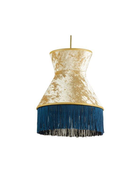 Lámpara de techo Cancán azul 25x25 cm