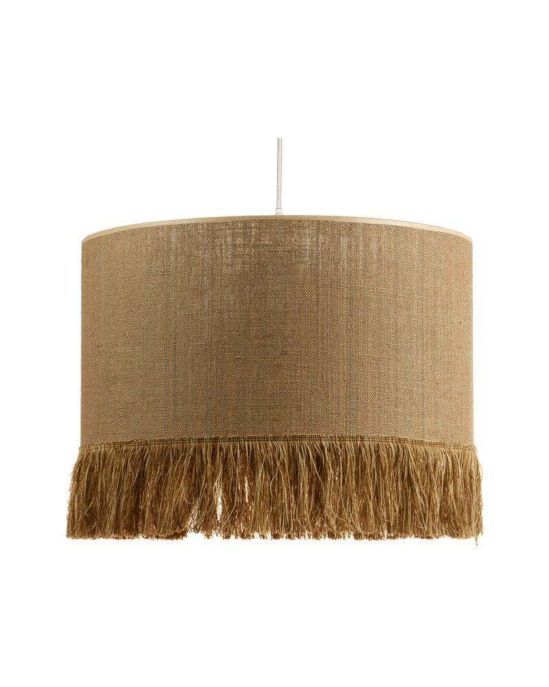 Lámpara de techo rafia marrón 45x45 cm