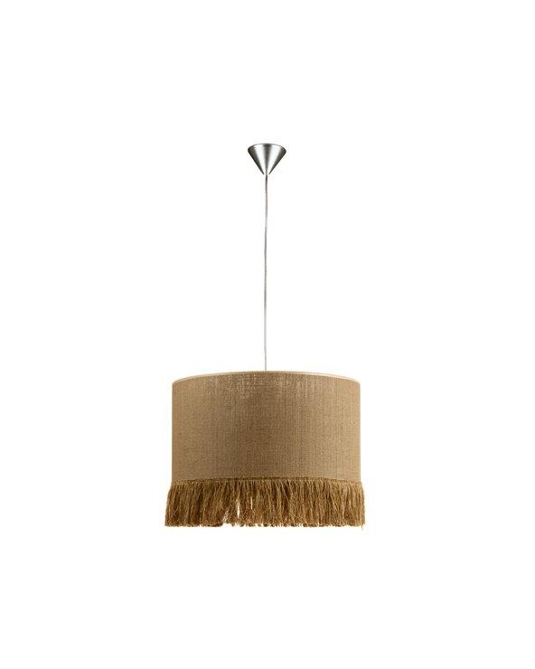 Lámpada de teito rafia marrón 45x45 cm
