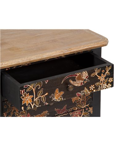 Side table with batik
