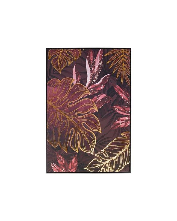 Donkere bladeren schilderij