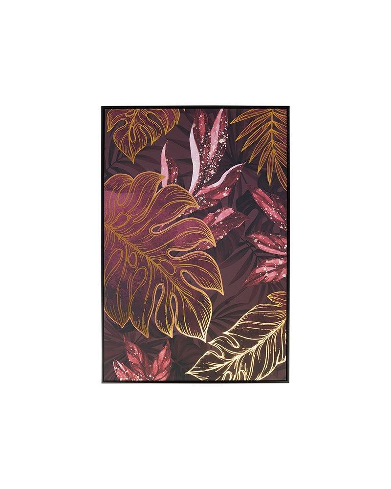 Dark leaves painting
