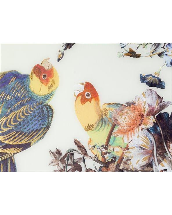 White parrots painting