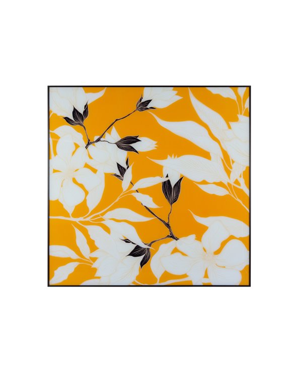 Peinture fleur orange