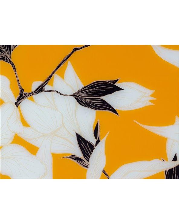 Quadre flors taronja