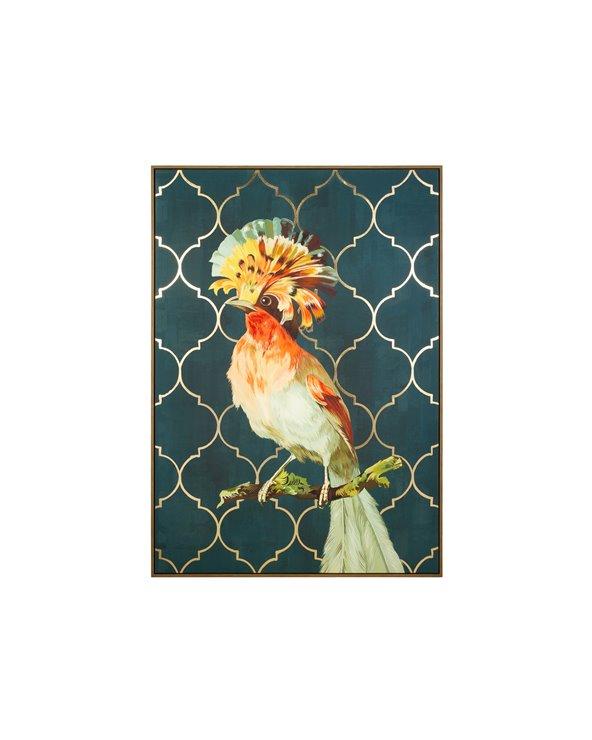 Kleurrijke vogel schilderij