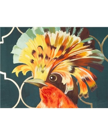 Colorful bird painting