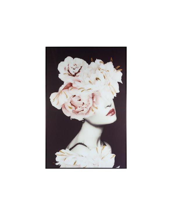 Haar bloem schilderij