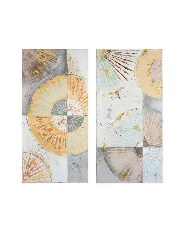 Set 2 peintures à l'huile Cercles