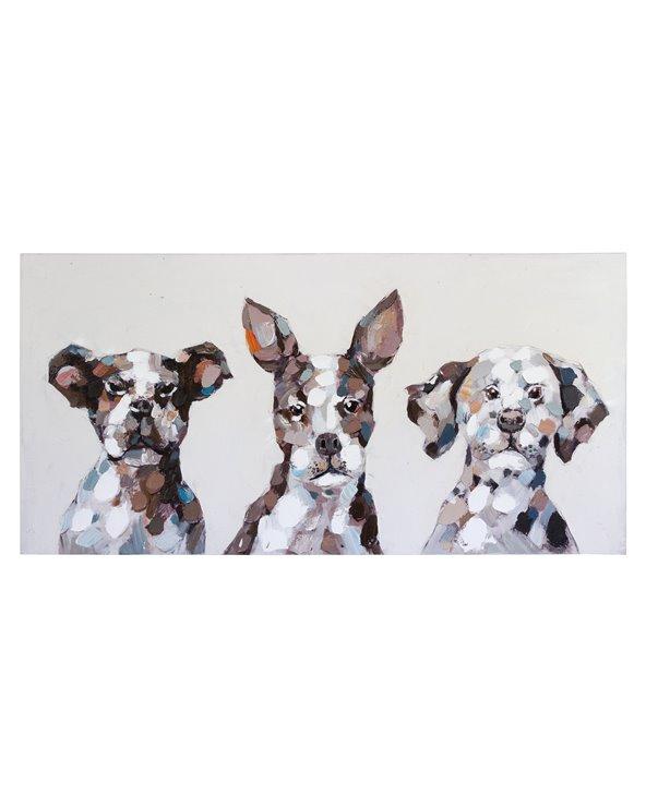 Peinture à l'huile de chiens