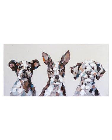 Honden olieverfschilderij