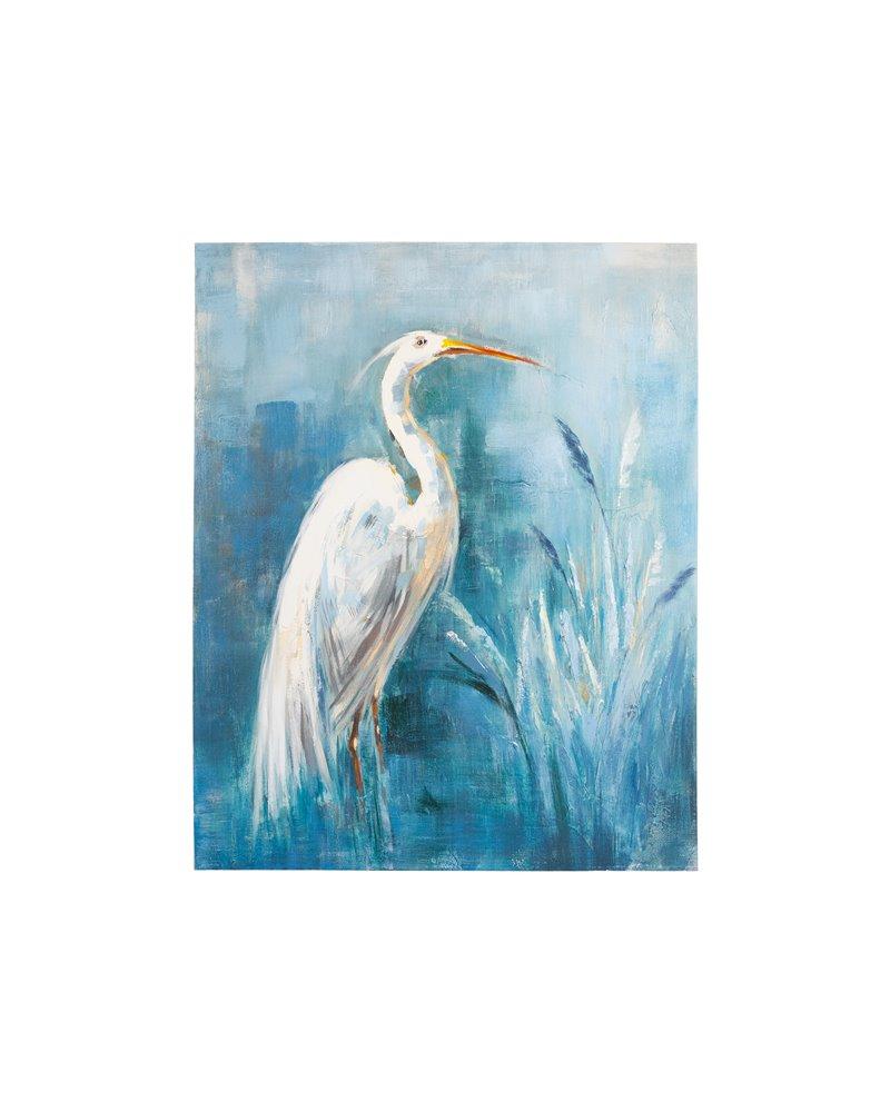 Stork oil painting