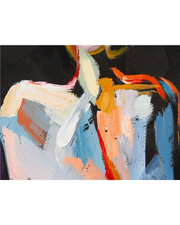 Set 2 cuadros óleo mujer