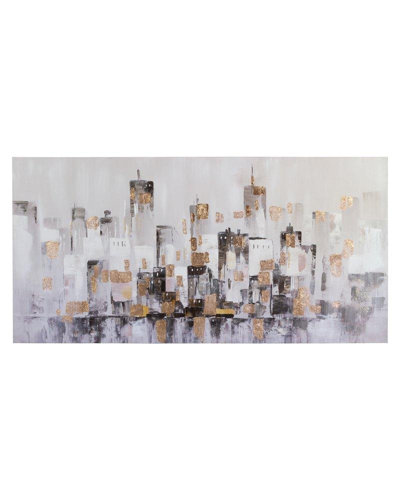 Cadro óleo cidade