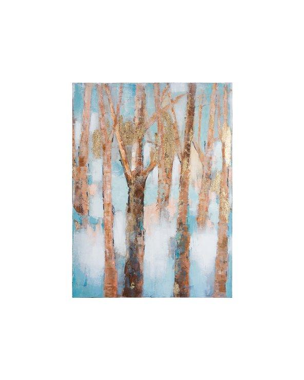 Peinture à l'huile de branches