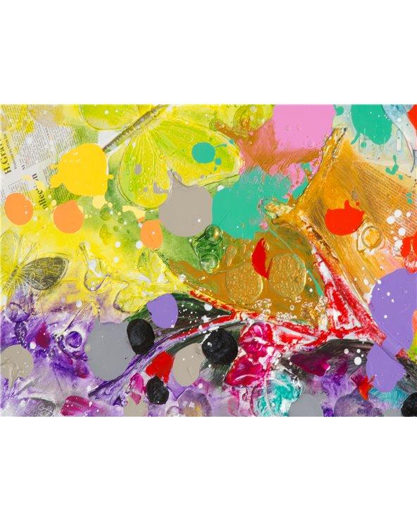 Set 2 cuadros árbol colores - Pintado a mano