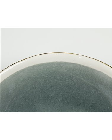 "Deep plate ""Abitare"" gray"