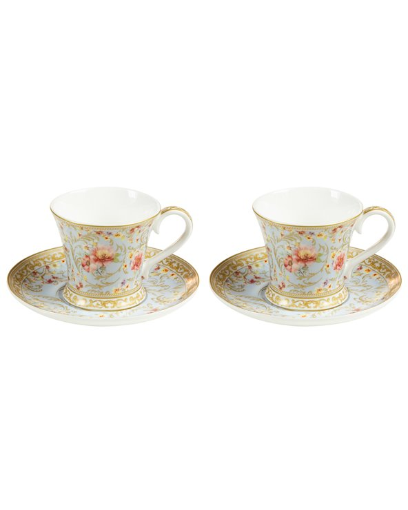 """Set 2 """"Majestic"""" cups with saucer"""