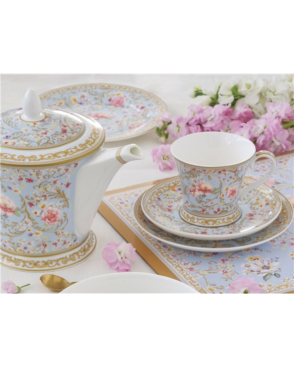 """Set 2 tazas con plato """"Majestic"""""""