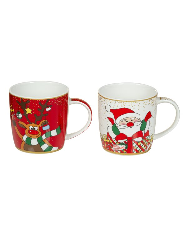 Set 2 tasses Noël
