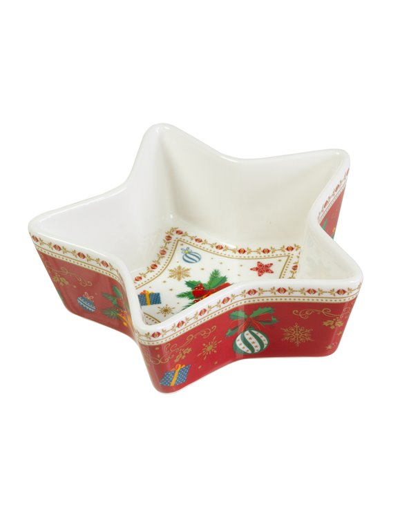 Christmas ornaments bowl