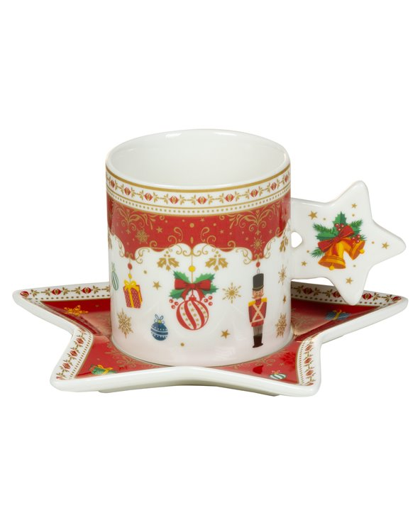 Christmas Ornaments Cup & Saucer