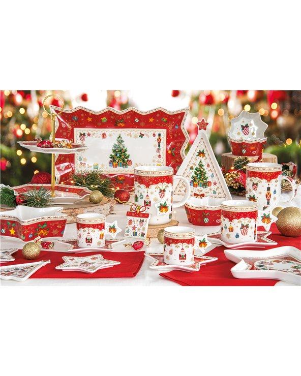 Taza y plato Navidad adornos
