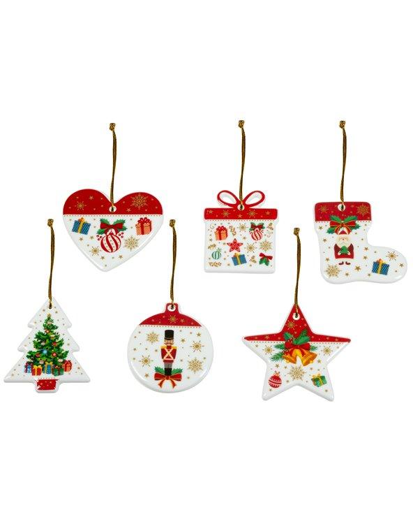 6 kerstboomversieringen