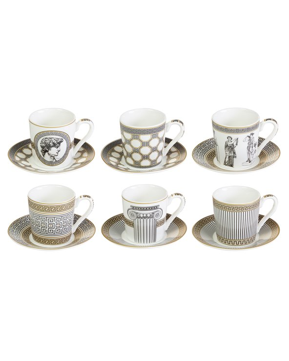 Set 6 tasses amb plat Paladium