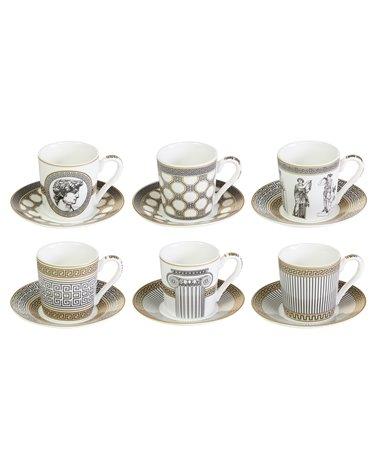 Set 6 tazas con plato Paladium