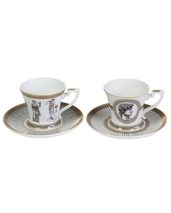 Set 2 tazas con plato Paladium