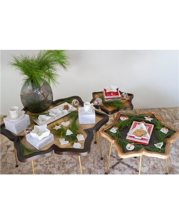 Set 4 piece appetizer set - Christmas - Xmas