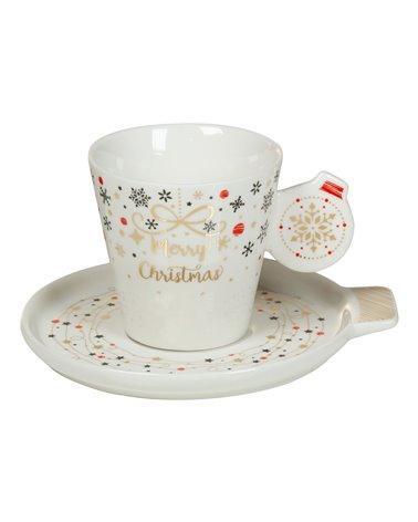 Taza con plato Navidad - Xmas
