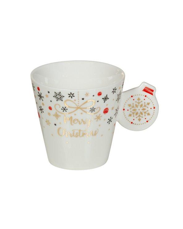 Christmas mug with saucer - Xmas