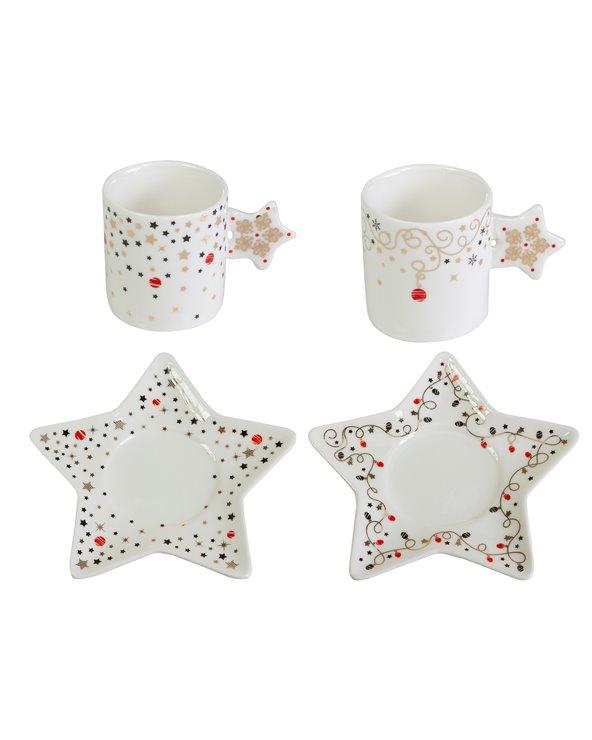 Set 2 tazas con plato Navidad - Xmas