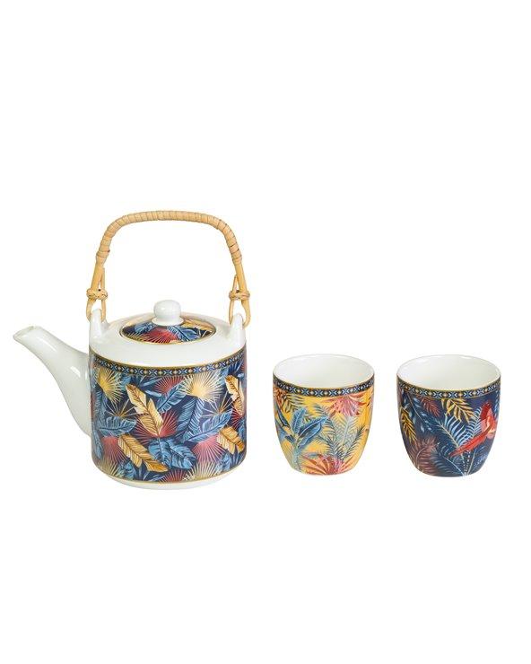 Equa teapot and two glasses set