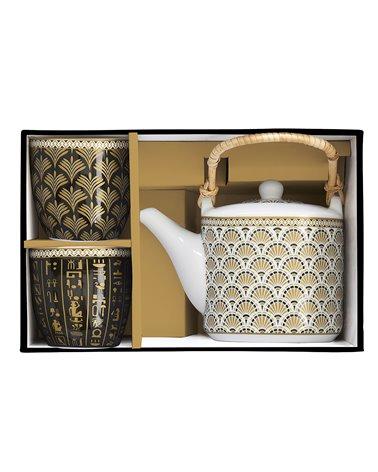Set de tetera e dous vasos Egypt
