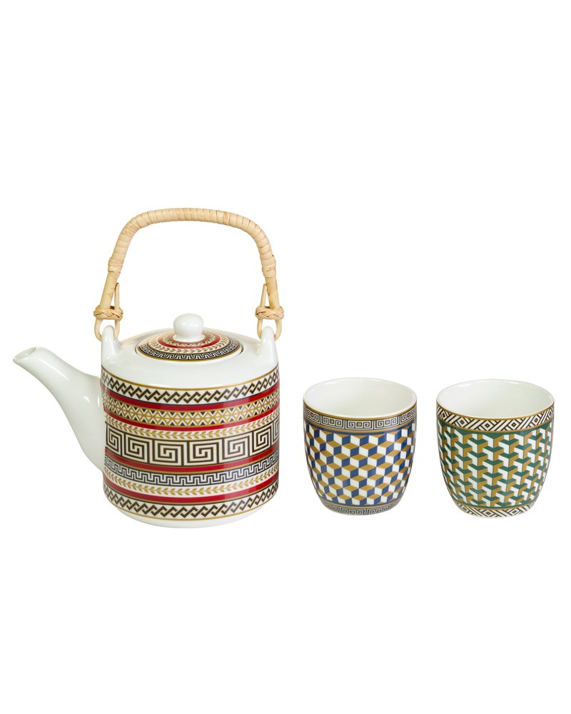 Neoc teapot and two glasses set