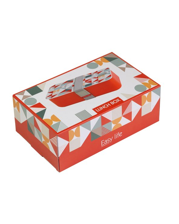 Red Geo lunch box