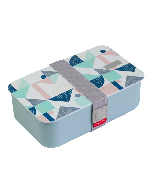 Blue Geo lunchbox
