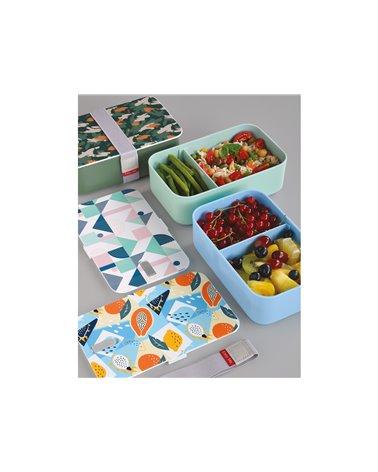 Blue Geo lunchbox