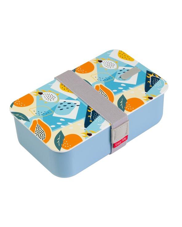 Blaue abstrakte Brotdose