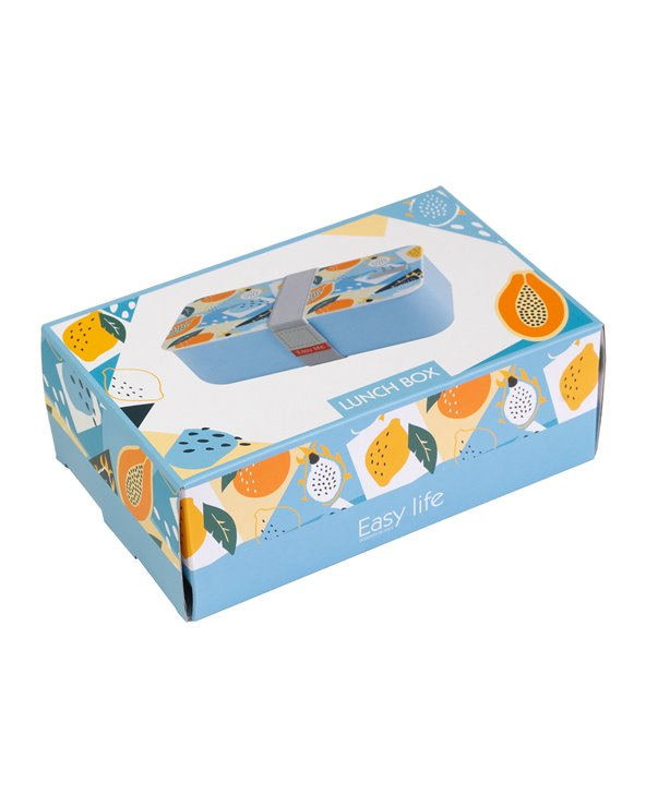 Blue Abstract Lunch Box