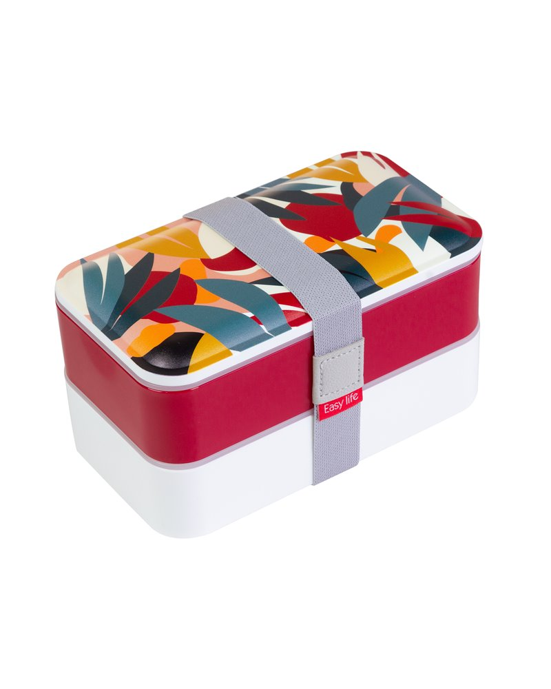 Abstract 2-Tier Lunch Box
