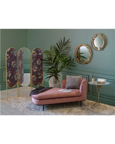 Chaise longue Velvet rosa